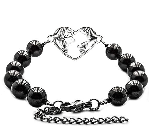 Shungite Heart Bracelet