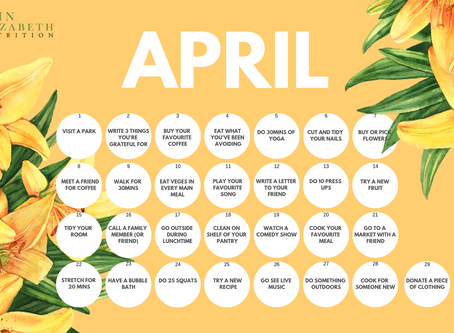 Wellness Calendar - April