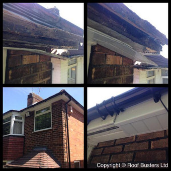 Fascia full replacement in uPVC White and a black Freeflow rain water gutter.