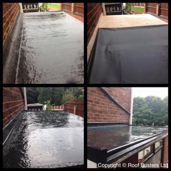 Mr & Mrs Warner, new Firestone Epdm rubber roof - Rugeley.