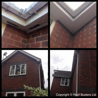Mr Lane is now complete, Fascia, soffit & guttering in an all white uPVC finish, with new decora