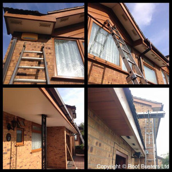 Mr and Mrs Maceras - New guttering, Light oak soffits with new dry verge - Telford.