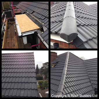 Here are the Final pictures of Mr & Mrs Daffu's Tiled roof installation...