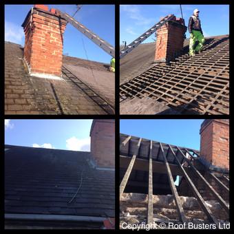 Mr & Mrs Hilton - Slate Roof installation.