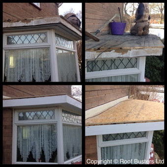 Mr & Mrs Hurst - Firestone rubber roof above a 3 sided bay window with new fascia and soffit to