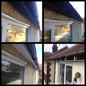 Mr Harry and Ross Parker - fascia soffit and guttering and Firestone rubber roof to bay window - Dud