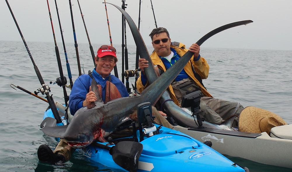 kayak thresher fishing