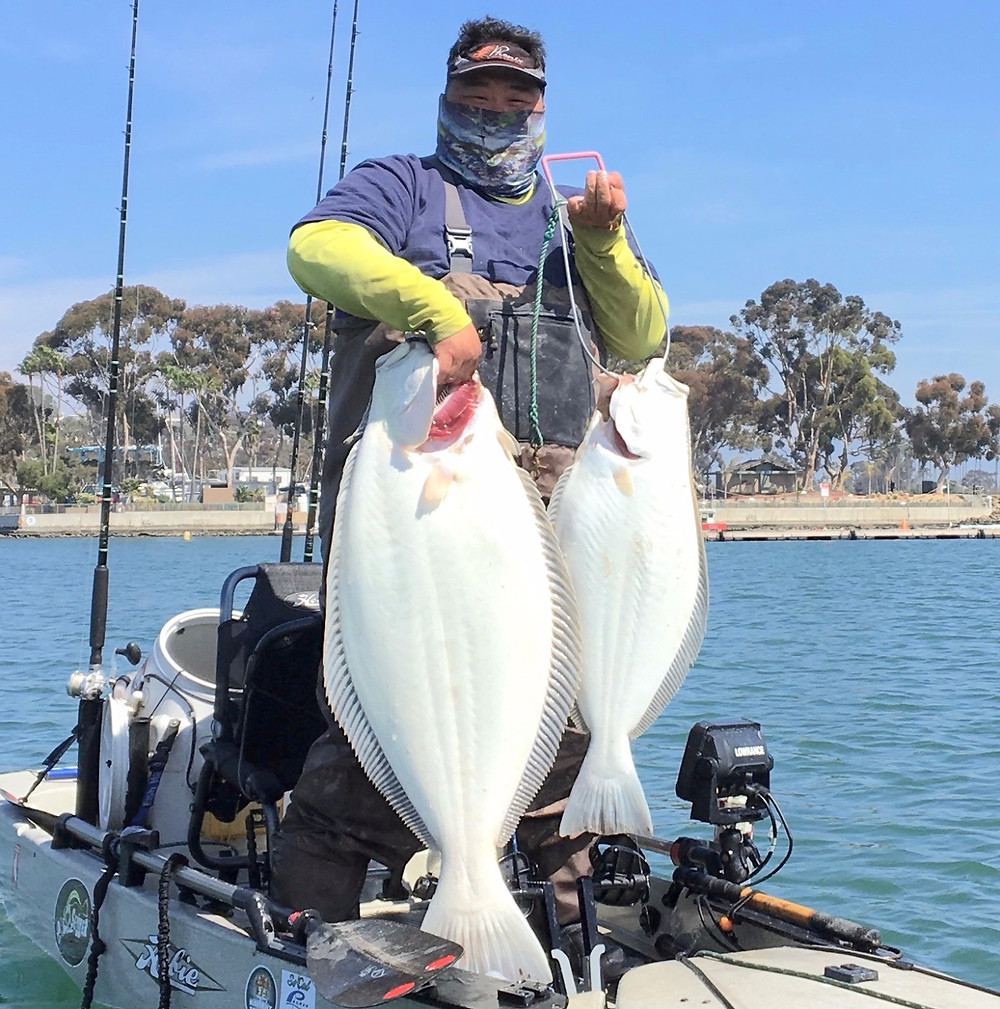 Tony Parks and his trophy California Halibut
