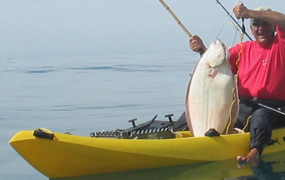 kayak halibut fishing