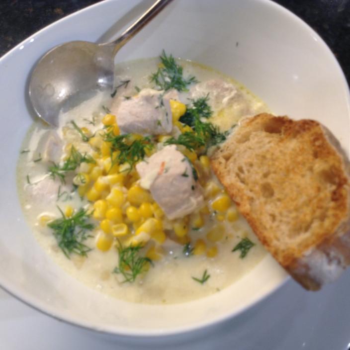 Fish Stock Yellowtail Cream Corn Soup!