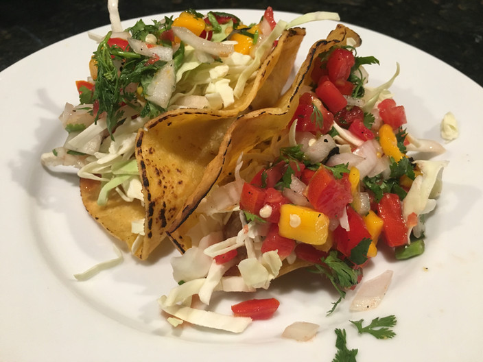 Easy Fish Tacos With Tropical Salsa!