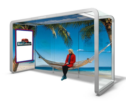 OOH Red Lobster Bus Shelters