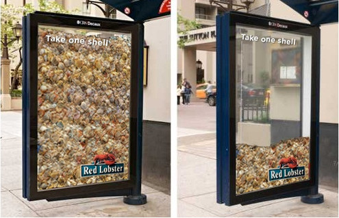 OOH Red Lobster Bus Shelter
