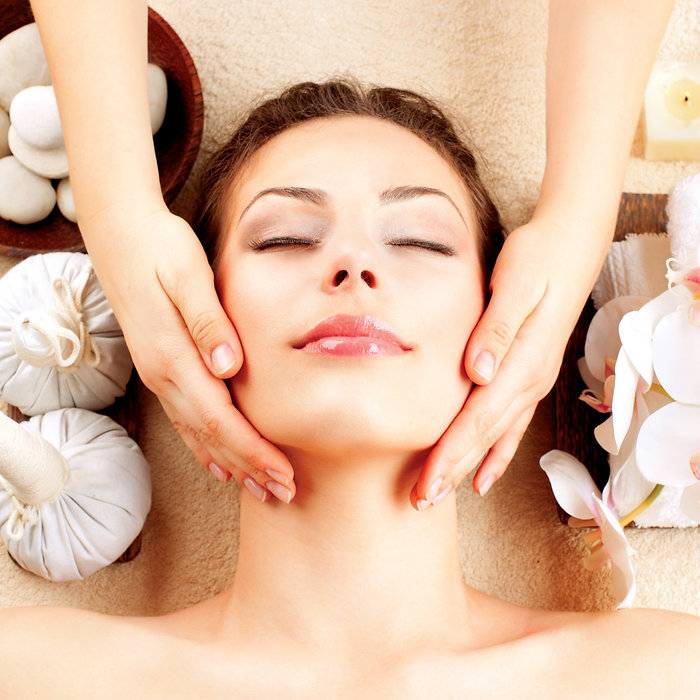 Spa Face Massage. Facial Treatment. Spa