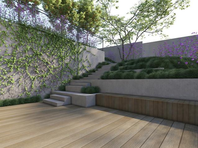 תכנון נוף בבית פרטי ברמת השרון