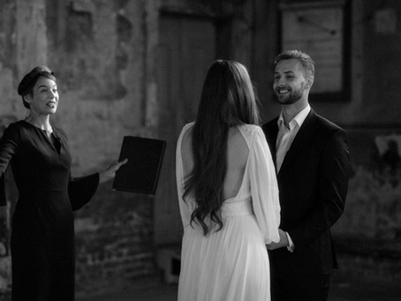 Beautiful elopement wedding at The Asylum in London