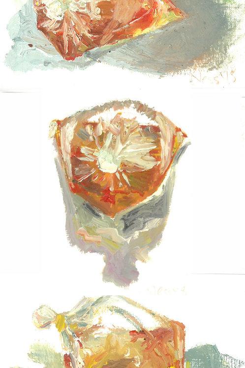 Miniature Sweet Chili Sauce Oil Painting Trio