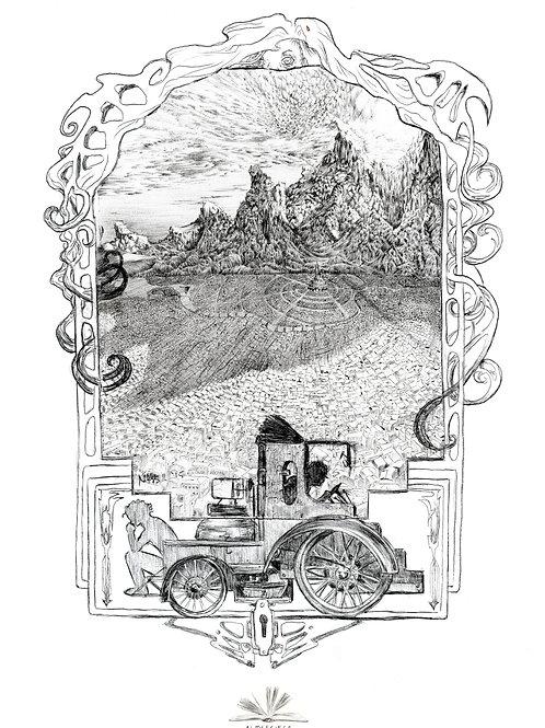The Mobile-Mill Illustration Print