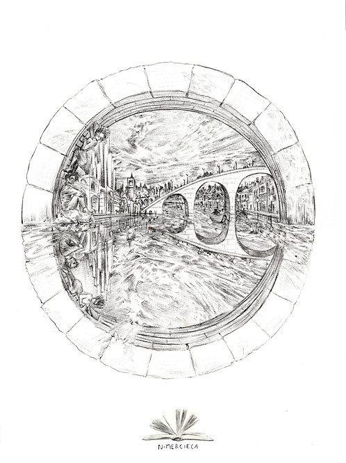 The Bridge Illustration Print