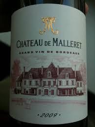 Chateau de Malleret 2009, CB Haut Medoc