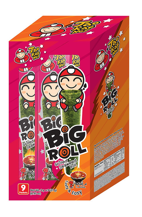 Big Roll Grilled Seaweed Mala 0.95 oz (27g- 3g X 9pcs)