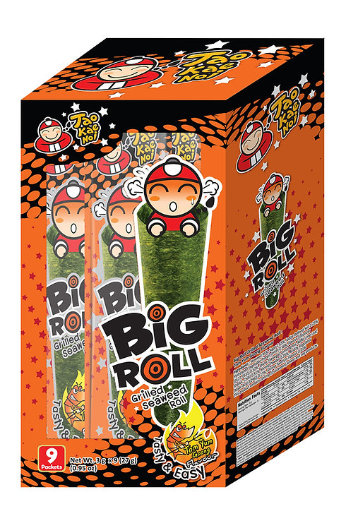 Big Roll Grilled Seaweed Tom Yum Goong 0.95 oz (27g- 3g X 9pcs)