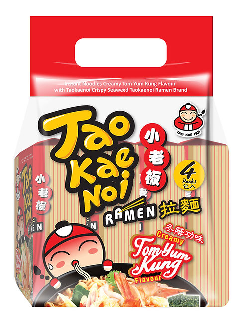 Ramen Noodles Tom Yum Kung12.68 oz ( 360g – 90g X 4pcs)