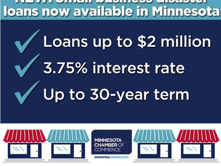 Small Business Disaster Loans Now Available in MN