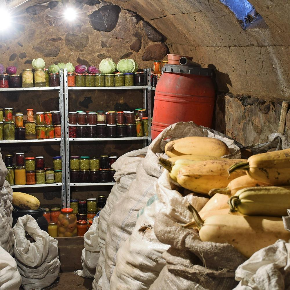 Lebensmittel im Keller lagern