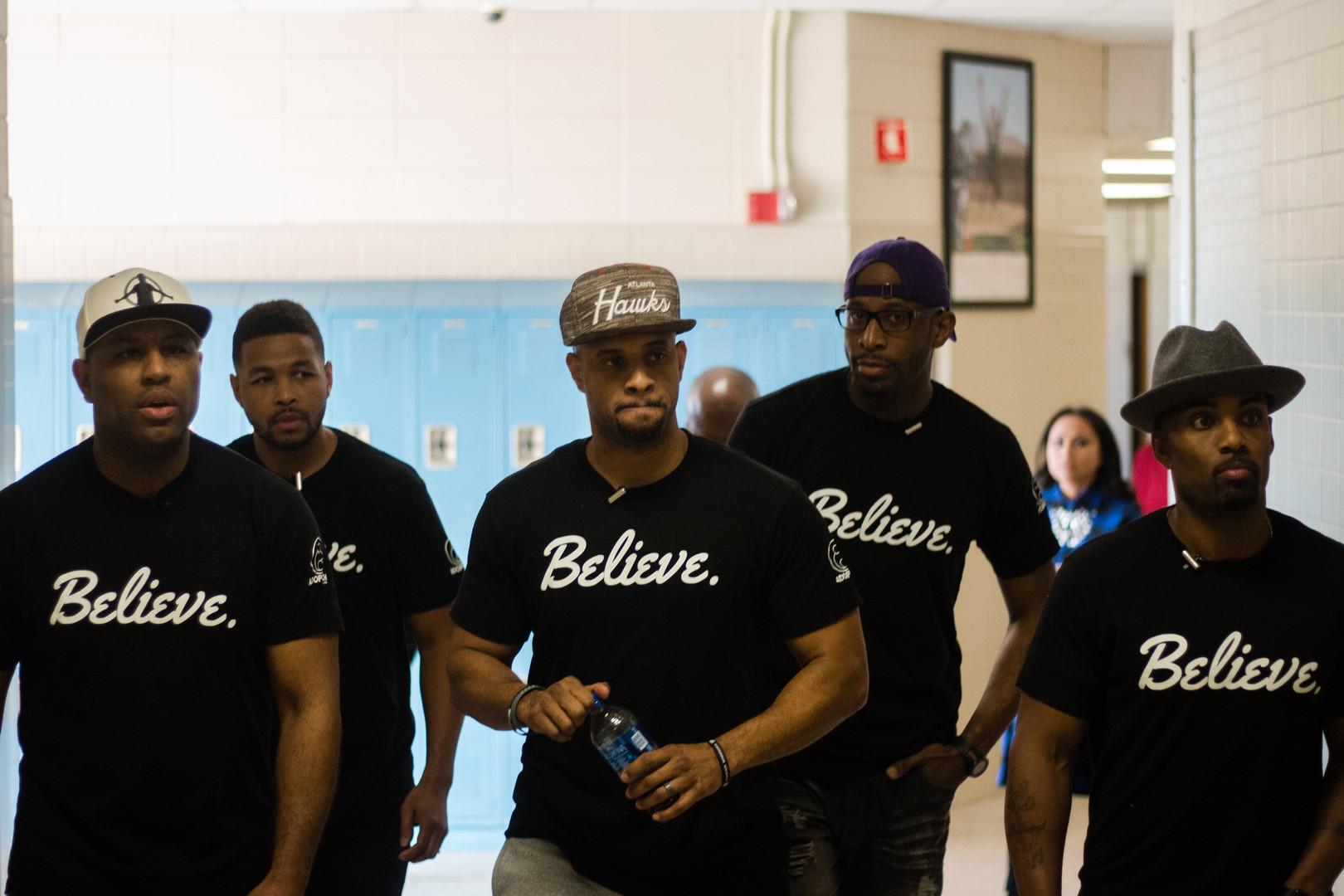 Squad in the Hallway (Eric, Inky, David,