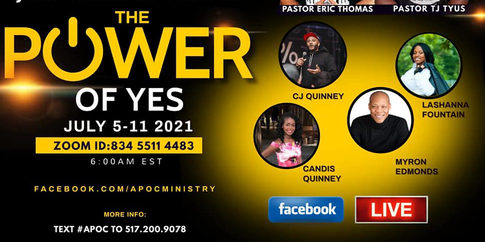 July Week of Prayer: The Power of Yes