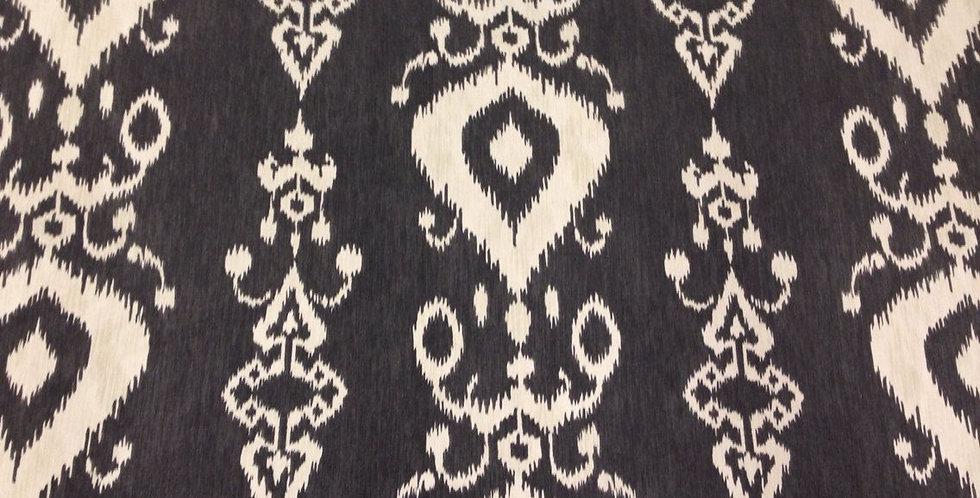 Charcoal Gray Ikat - Tullahoma Fabric