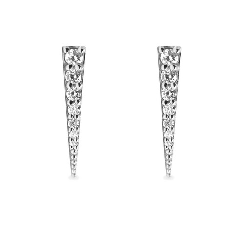 6c740fef3 14k Gold Spike Shaped Earring Studs pave set with 0.22 cts approx. of  Natural Diamonds in SI Clarity.