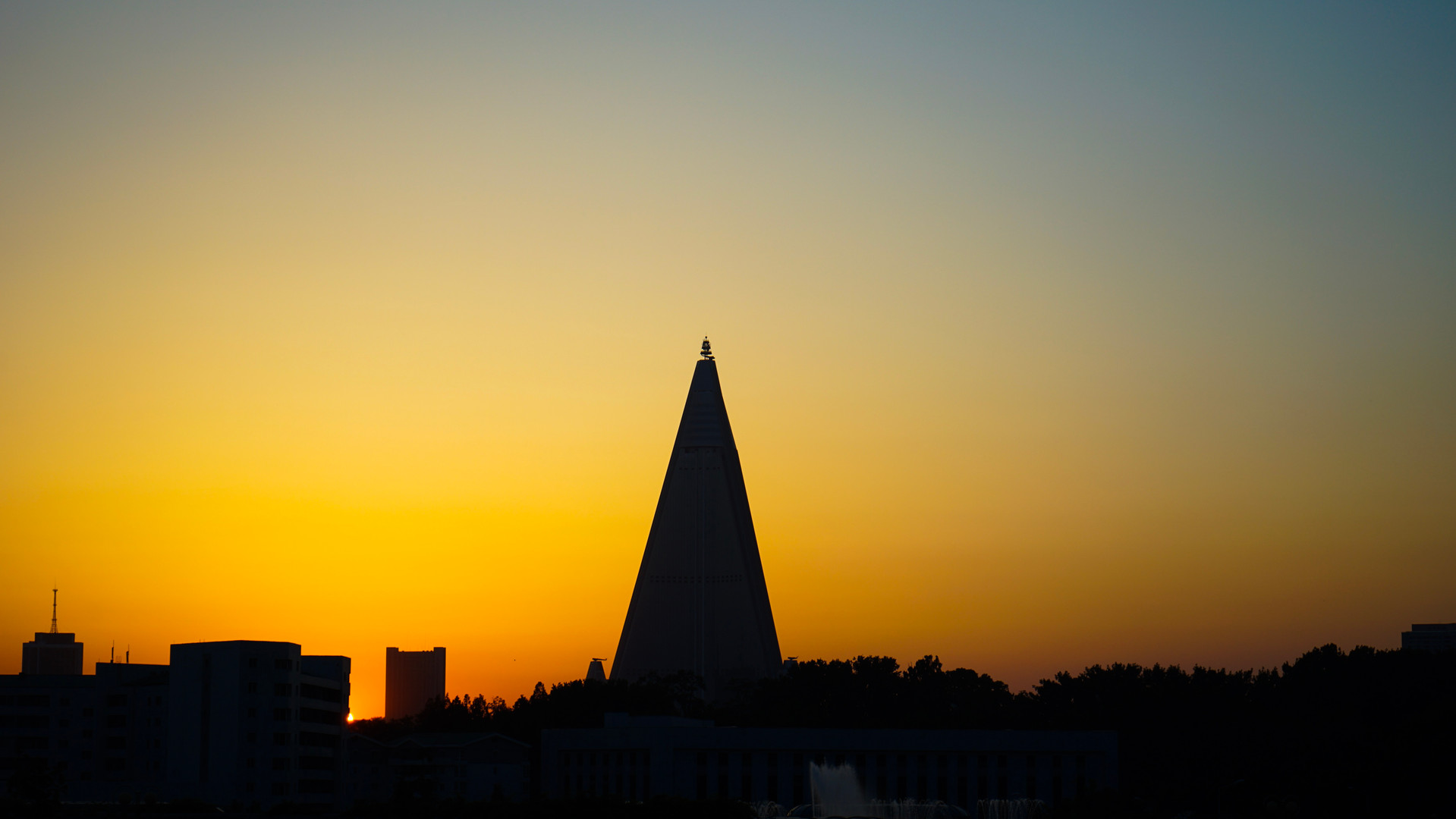 Sunset in NK