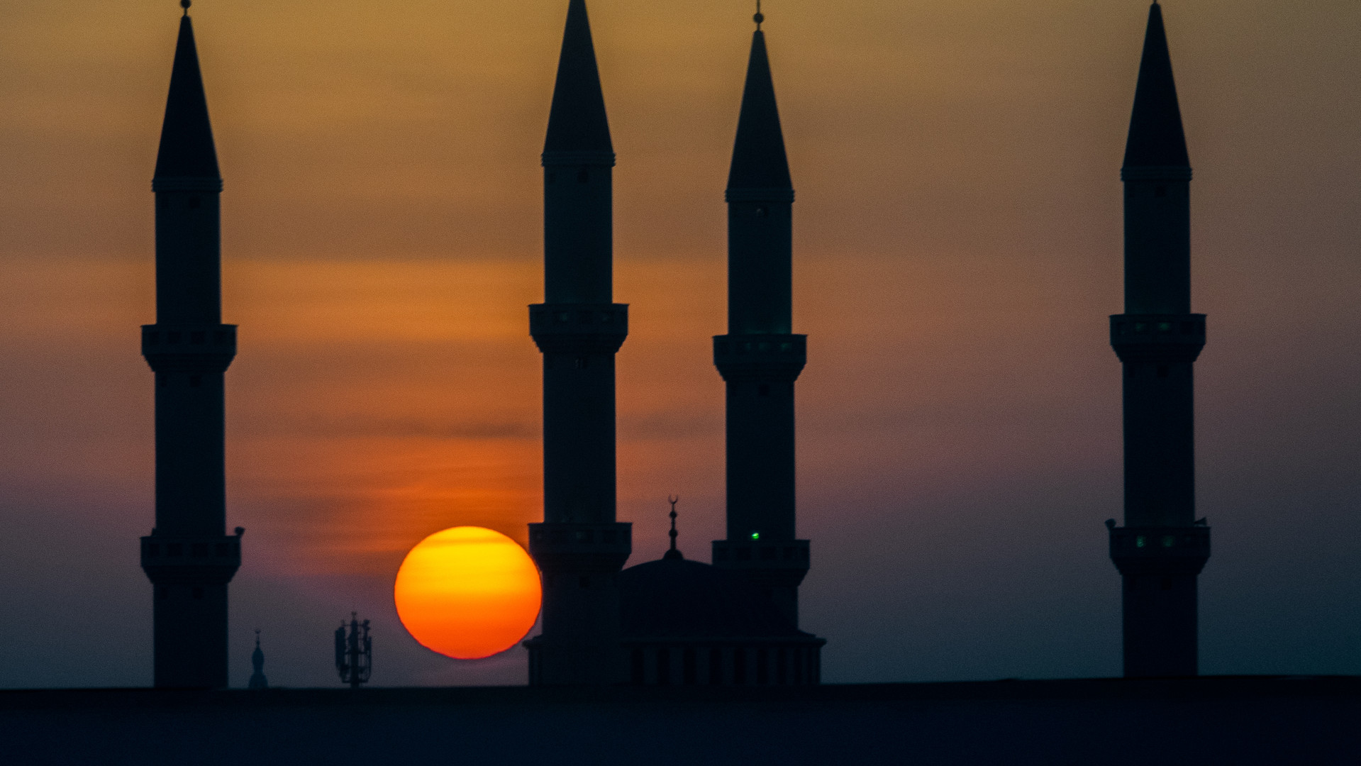 Sunset at the Mosque
