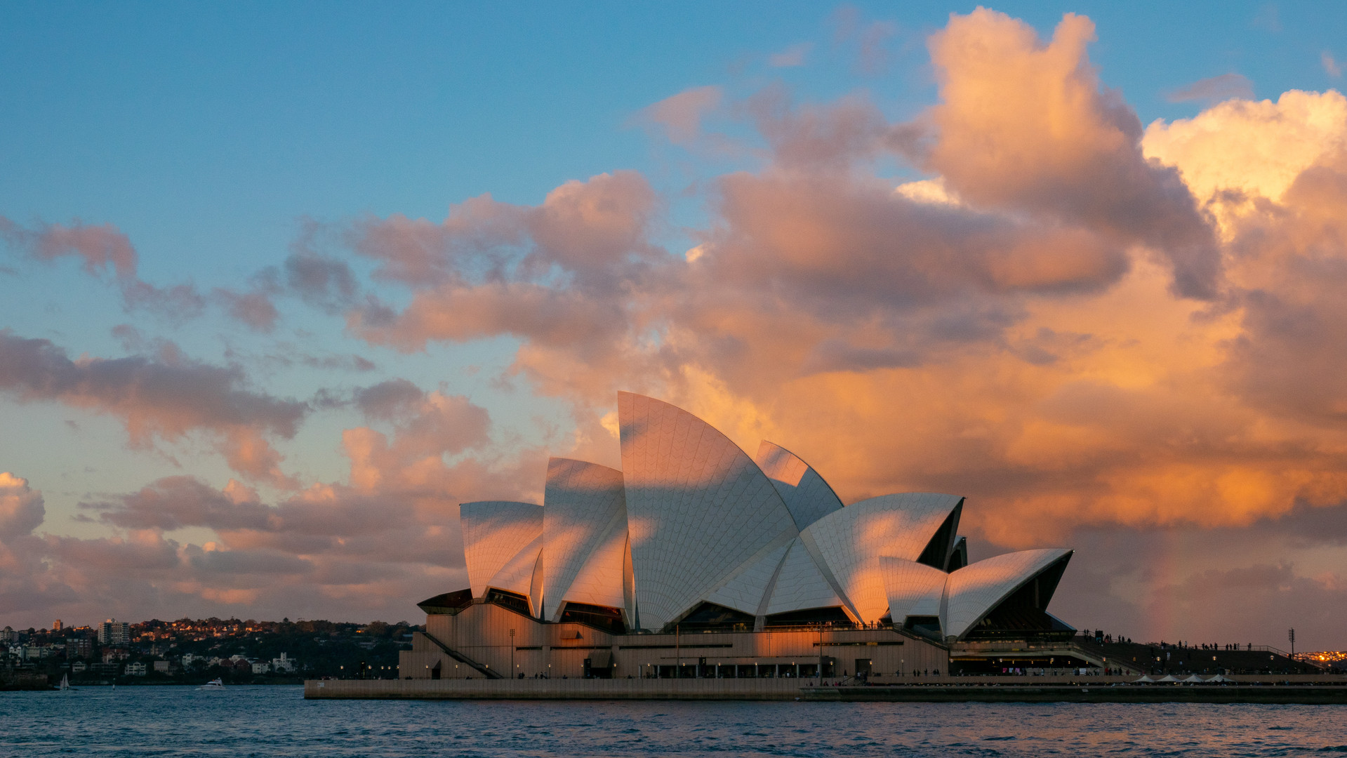 Sunset at the Opera house