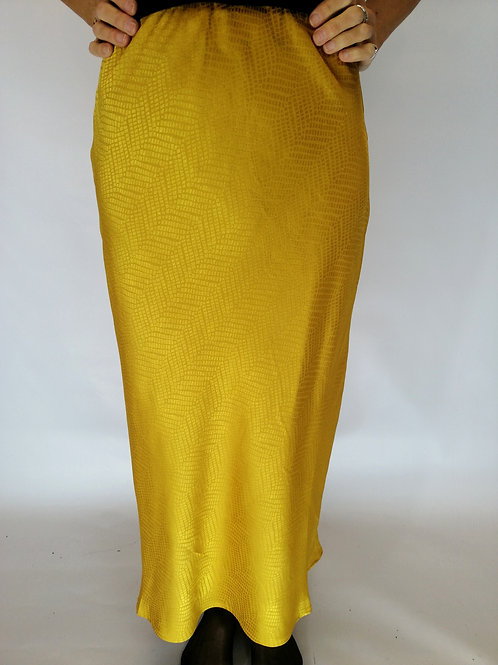 Jacquard Print Slip Skirt