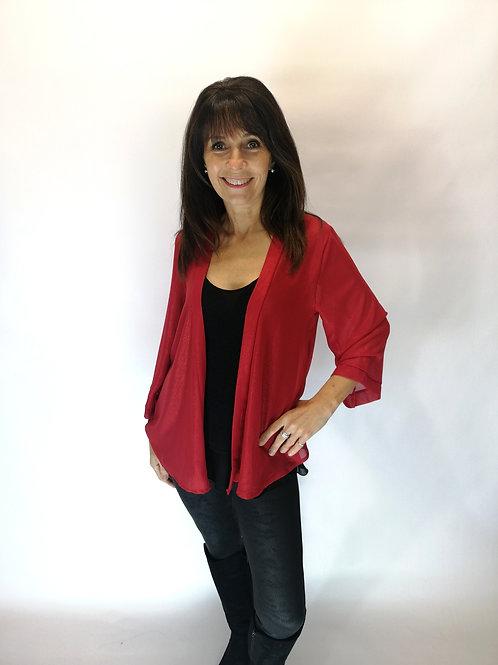 Red Shimmer Cardigan