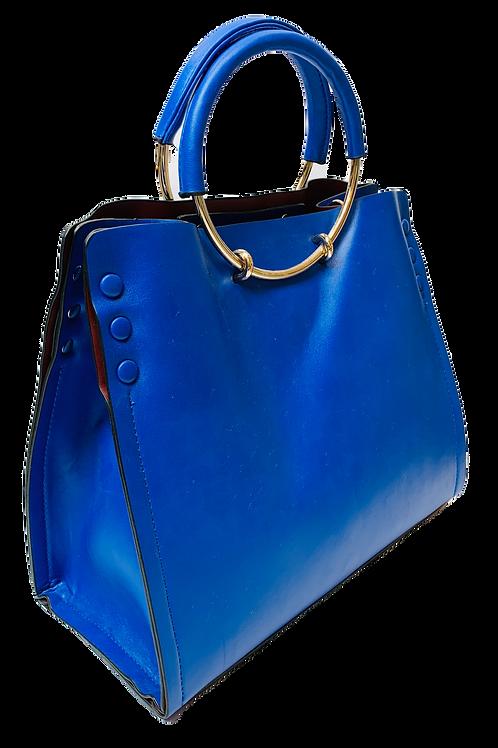 Tote Handbag, Blue