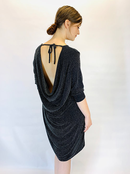 Glitter Dress With Low Back
