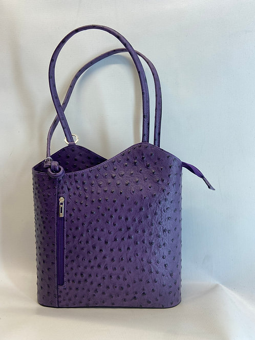 Ostrich finish leather bag
