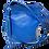 Thumbnail: Crossbody Leather Tassel Handbag, Blue