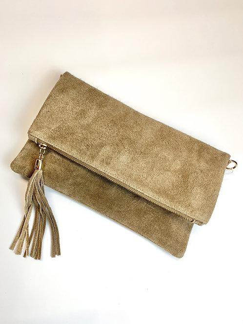Suede Clutch Bag
