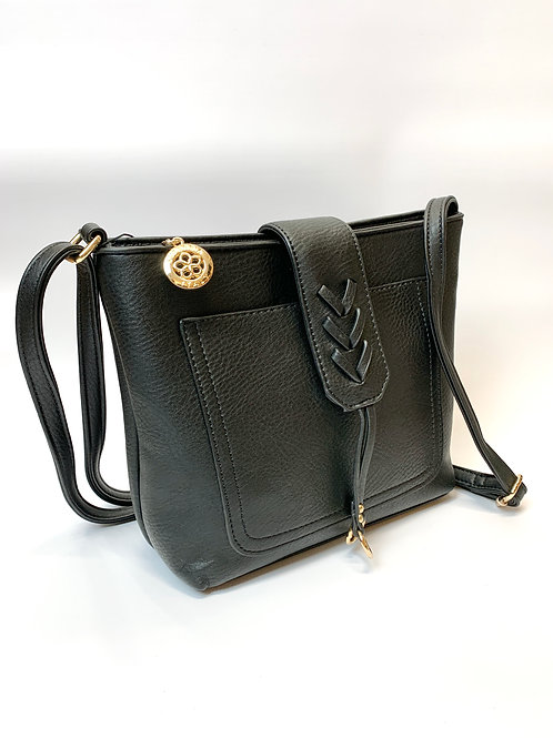 Crossbody/Shoulder Handbag, Black