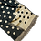 Thumbnail: Polka dot Scarf, Black/Cream
