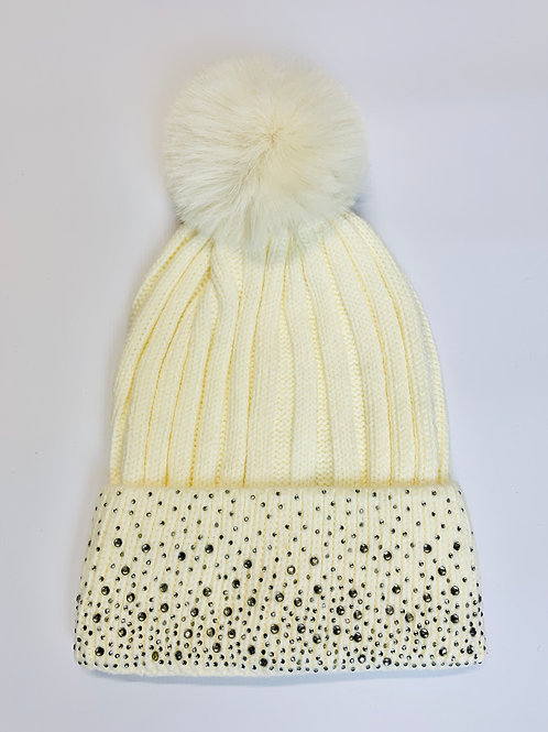 Sparkly bobble hat