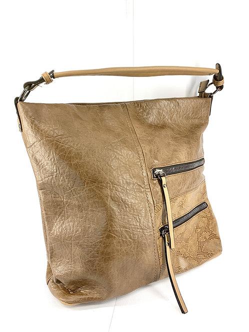 Large Hobo Handbag, Brown