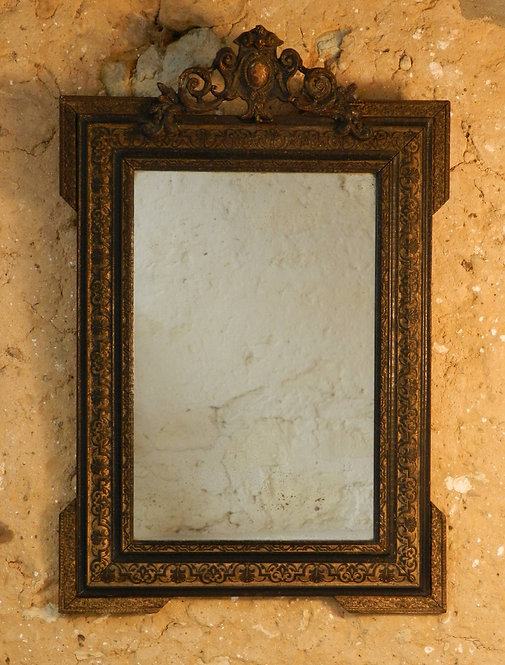 Ebonised Giltwood Mirror