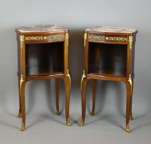 Fine Antique French Bedside Cabinets Louis XV (19 C)