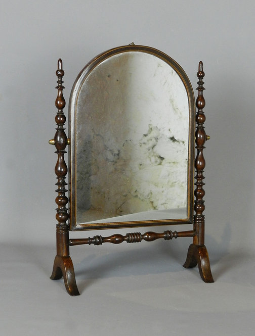 French Antique Rosewood Toilet Mirror